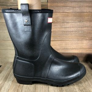 Hunter Original Short Rubber Rain Boots Mens Sz 12